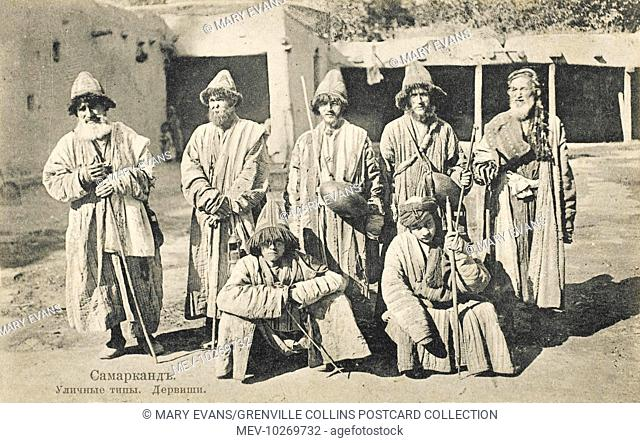 Wandering Uzbek Dervishes from Samarkand. Dervish or Darvesh in Persian usually refers to a person who is a æseeker of the truthÆ i.e