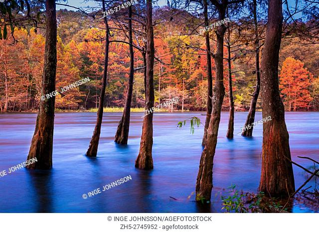 Beavers Bend State Park is a 1,300 acres Oklahoma state park located in McCurtain County. It is approximately 10. 5 miles north of Broken Bow