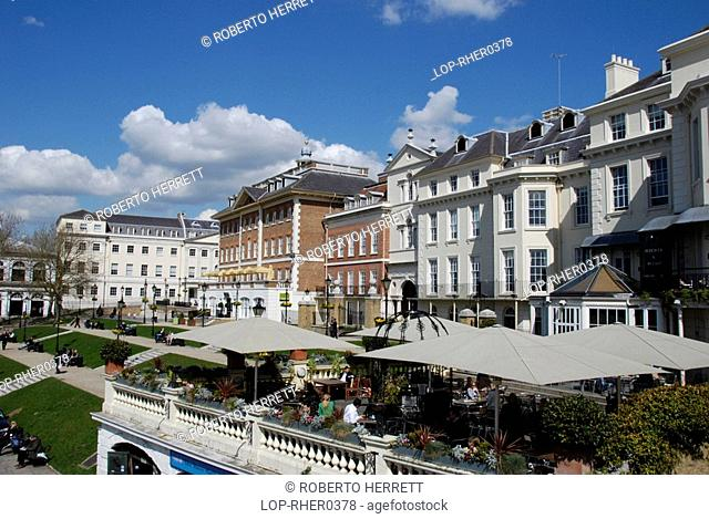 England, London, Richmond Upon Thames, A view of the period architecture at Richmond Riverside