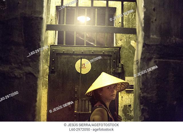 Tourist in Hoa Lo Prison Museum, Hanoi