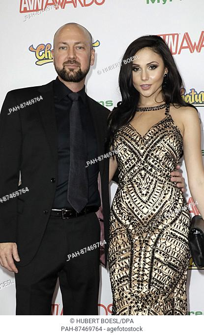 Adult Film Actors Jack Spade And Ariana Marie Attend The Adult Video News Awards Avn