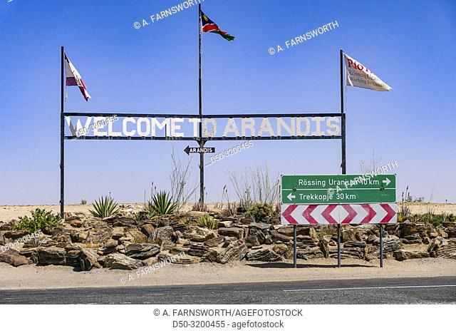 Arandis, Namibia Site of the Rössing Mine, a large Uranium mine formerly operated by Rio TInto and now owned by a Chinese company