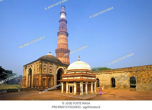 The Alai minaret in the Qutb Minar Complex, New Delhi City, India, Asia