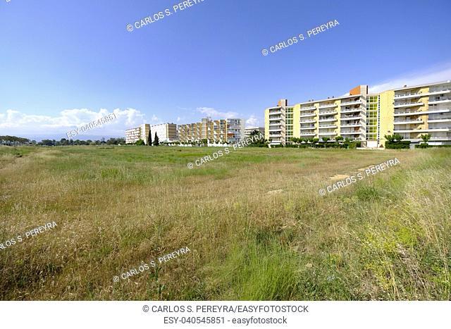 Cityscape in La Pineda in the city of Vilaseca in Catalonia in Spain