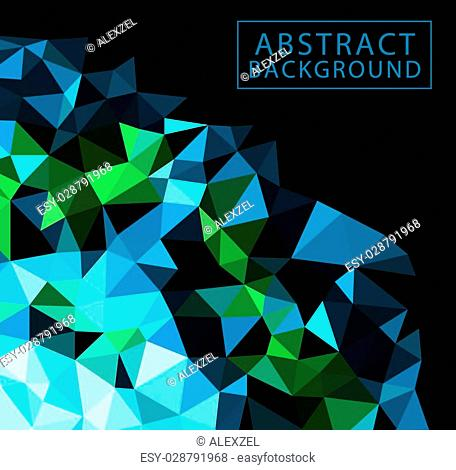Vector template flyer form with colorful abstract geometric patterns art style details and company logo