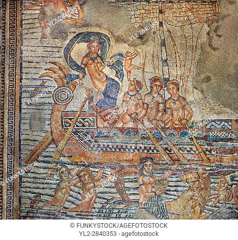 The Voyage of Venus, a Roman mosaic from Volubilis. Museum of Moroccan Arts and Antiquities, Morocco