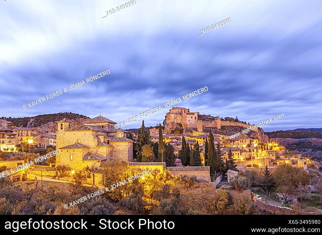 Alquezar village, Somontano de Basbastro, Huesca, Spain