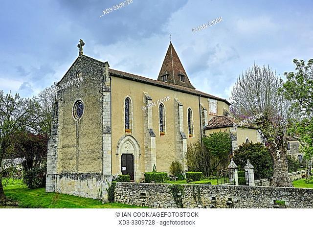 Eglise de Fources, Fources, Gers Department, Nouvelle Aquitaine, France