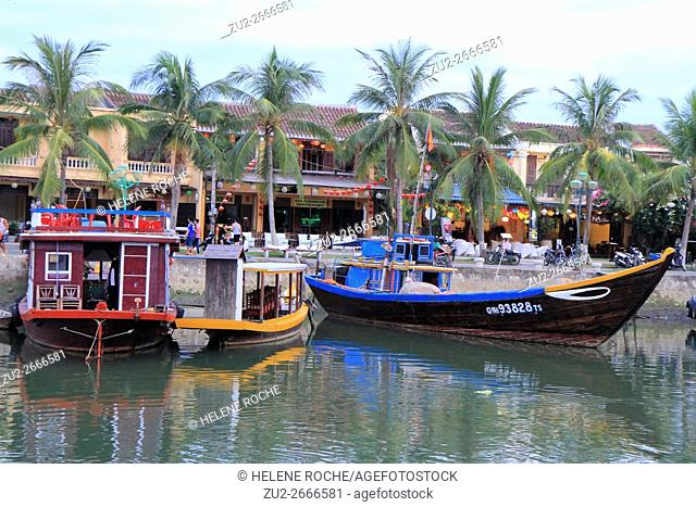 Traditional boats, Hoi An, Viernam, Asia