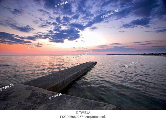 Croatian coast in the region of Umag