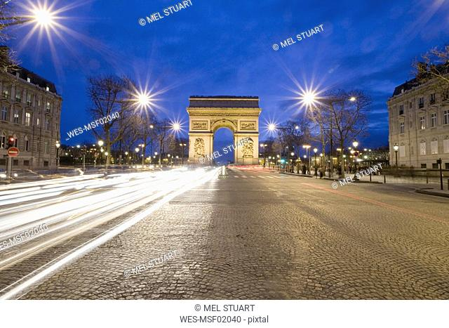 France, Paris, Arc de Triomphe, Charles de Gaulle square