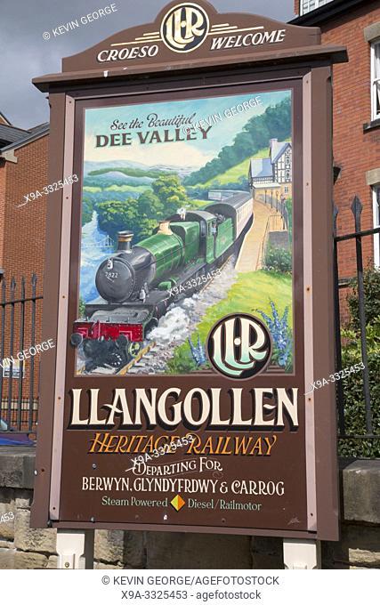 Heritage Railway Poster; Llangollen; Wales; UK