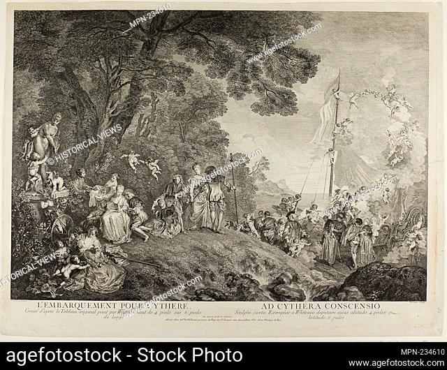 Pilgrimage to the Island of Cythera - c. 1733 - Nicolas Henri Tardieu (French, 1674-1749) after Jean Antoine Watteau (French