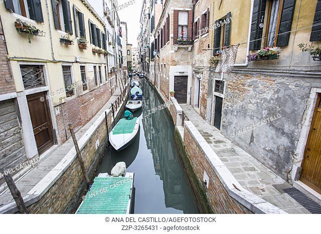Venice, Veneto, Italy: Cityscape at a winter morning. Dorsoduro quarter