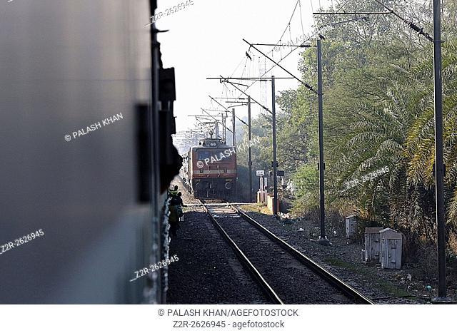India 12 February 2016. Indian diesel electric passenger locomotive, Ajmer