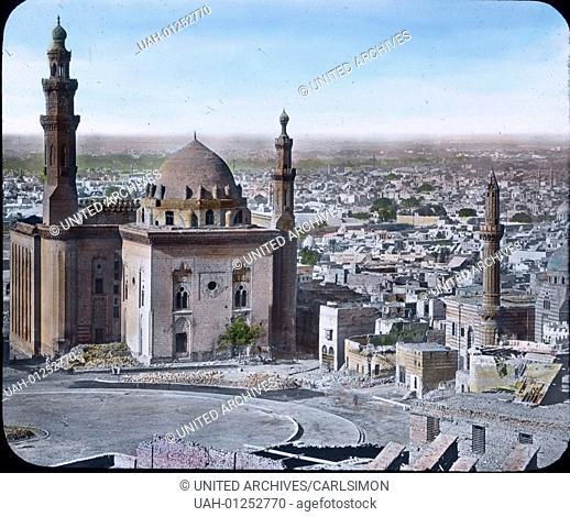Egypt, panorama view to Cairo, image date: circa 1910. Carl Simon Archive