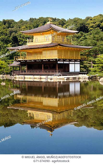 Kinkakuji Temple (the temple of Golden Pavilion), built in Kyoto's northern hills in 1398 by Yoshimitsu, the third Ashikaga shogun (and became a Zen Temple when...