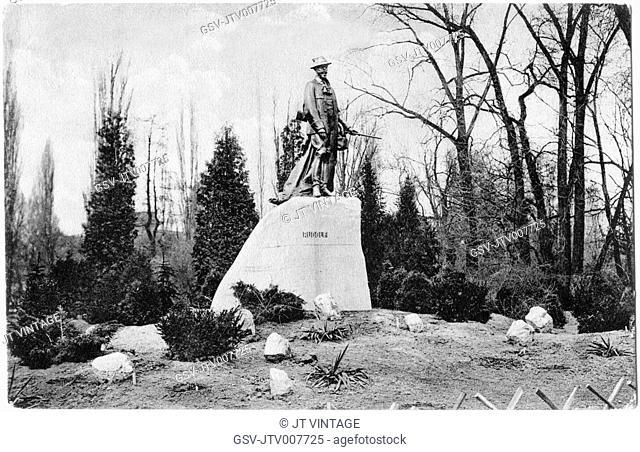 Rudolf Szobor Monument, Budapest, Hungary, circa 1930
