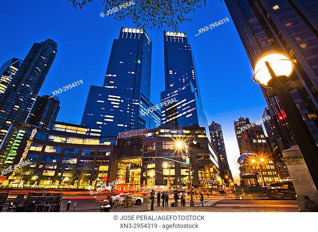 Time Warner Center, Columbus Circle, Midtown, Manhattan, New York City, USA