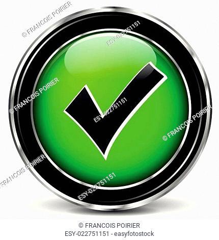 Vector green check mark icon