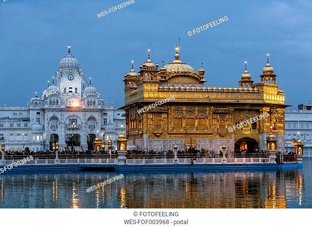 India, Punjab, Amritsar, View of Golden Temple