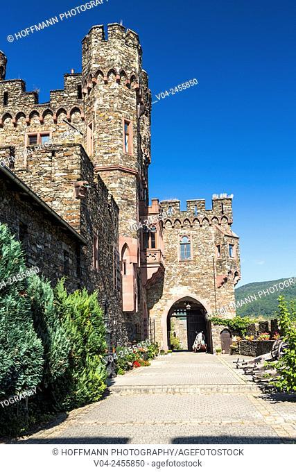 Historic Burg Reichenstein (Reichenstein Castle), Rhineland-Palatinate, Germany, Europe