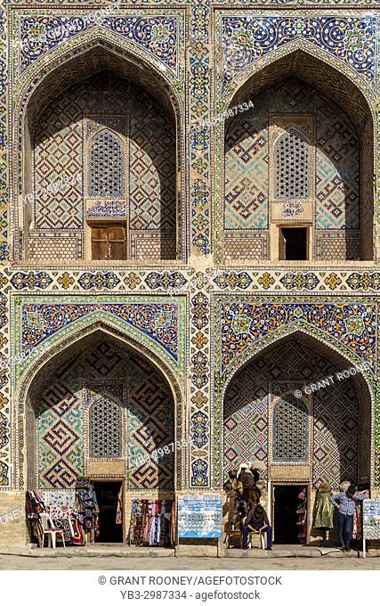 Colourful Souvenir Shops Inside The Sher Dor Madrassa, The Registan, Samarkand, Uzbekistan