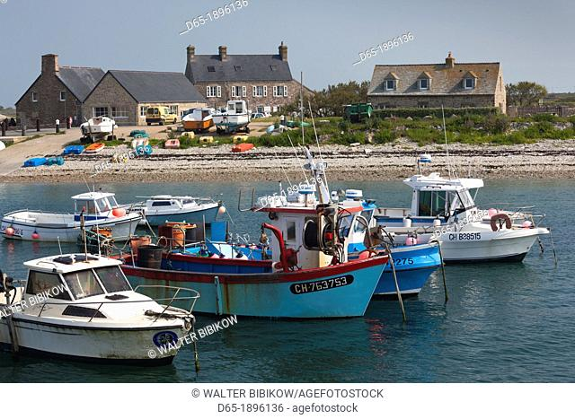 France, Normandy Region, Manche Department, Goury, port view