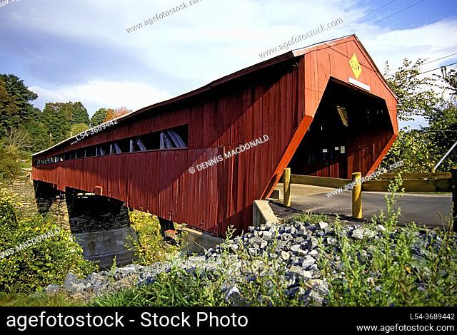 Wooden Bridge at Woodstock, Vermont