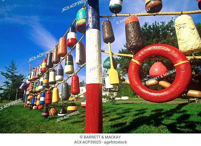 Lobster buoys, Sainte-Anne-de-Kent, New Brunswick, Canada