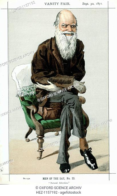 Charles Darwin, English naturalist, 1871. Darwin (1809-1882) was employed as naturalist on HMS Beagle from 1831-1836. He first made his name as a geologist