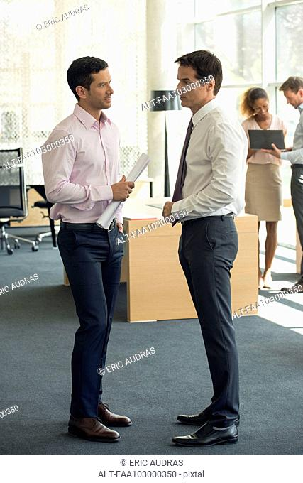 Businessmen chatting