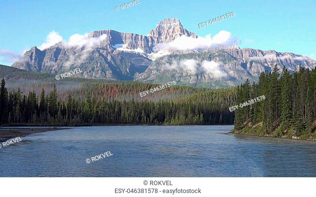 Spirit Island at Maligne Lake, Jasper National Park, Canada