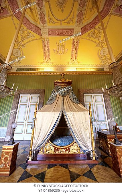 'The bedroom of Joachim Murat' is decorated in the Empire style and comes from the Royal Palace of Portici, the favourite palace of Joachim Murat and Caroline...