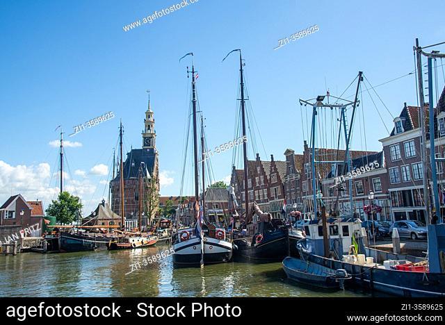historic harbour of Hoorn, Holland