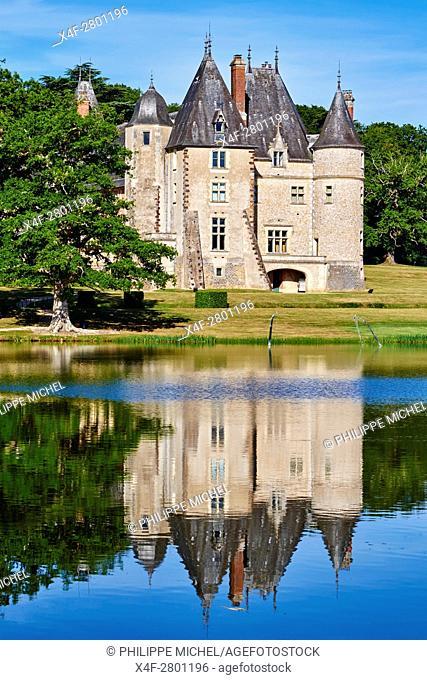 France, Cher (18), Berry, the Jacques Coeur road, chateau de la Verrerie castle