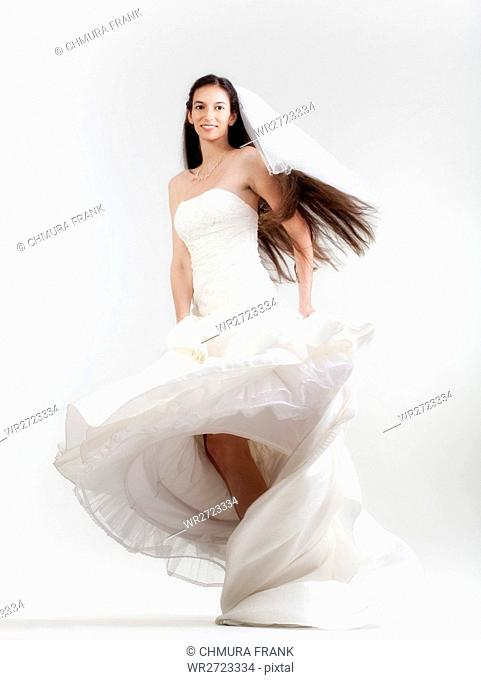 adult, attractive, beautiful, beauty, bride, Caucasian, clothes, clothing, dress, elegance, elegant, female, girl, gorgeous, gown, hair, long, marriage, one