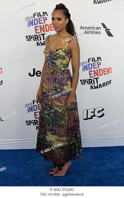 Kerry Washington attends the Independent Spirit Awards on March 3, 2018 in Santa Monica, California