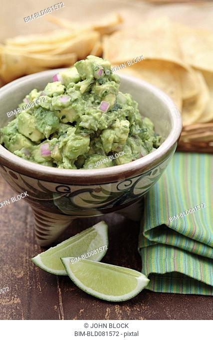 Guacamole and limes
