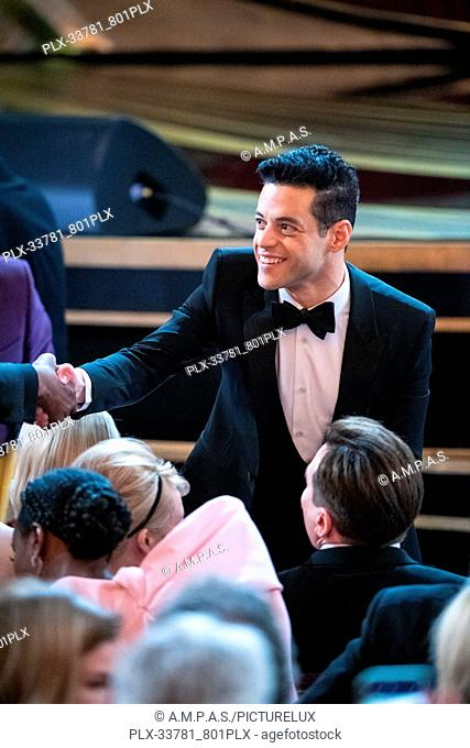 Rami Malek attends The 91st Oscars® at the Dolby® Theatre in Hollywood, CA on Sunday, February 24, 2019