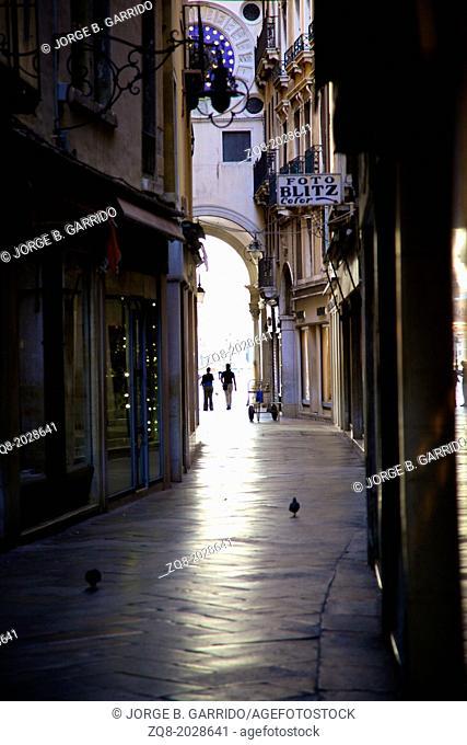 Narrow street, venice Italy