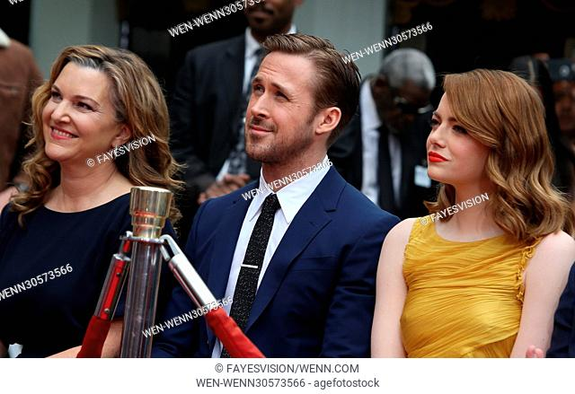 Ryan Gosling And Emma Stone Hand And Footprint Ceremony Featuring: Krista Smith, Ryan Gosling, Emma Stone Where: Hollywood, California