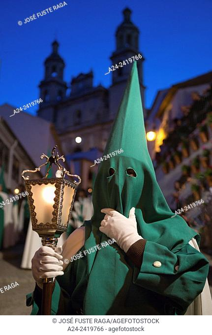 Spain , Andalucia Region, Cadiz Province, Olvera City, Holly Thursday Parade
