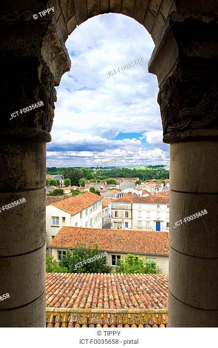 France, Poitou Charentes, Saintes from the abbaye aux dames