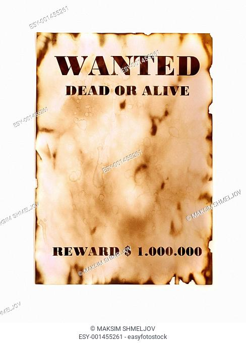 Wanted retro poster