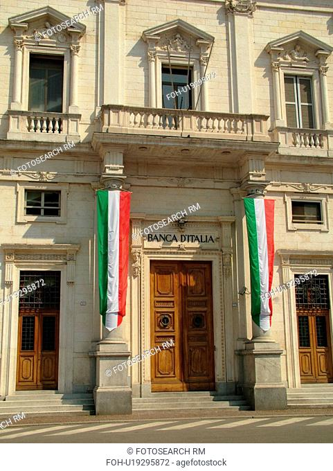 Emilia-Romagna, Italy, Reggio nell'Emilia, Europe, Banca D'Italia in the town of Reggio Emilia