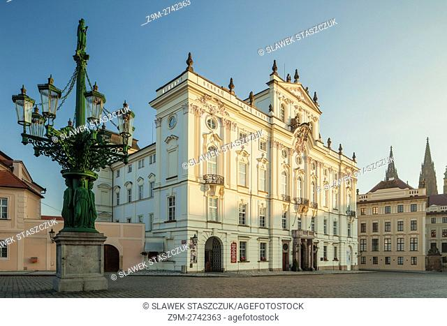 Morning at archbishop's palace, Hradcany, Prague, Czech Republic