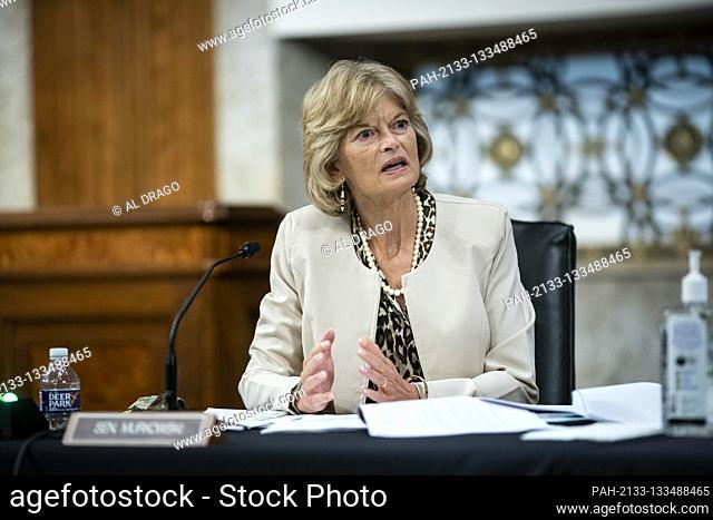 United States Senator Lisa Murkowski (Republican of Alaska), speaks during a Senate Health, Education, Labor and Pensions Committee hearing in Washington, D