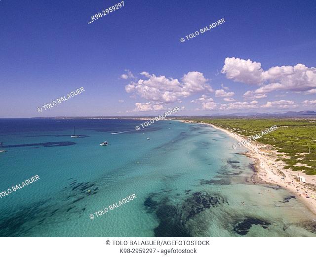 Es Trenc beach, Area Natural de Especial Interés, municipio de Campos, Mallorca, Balearic islands, Spain