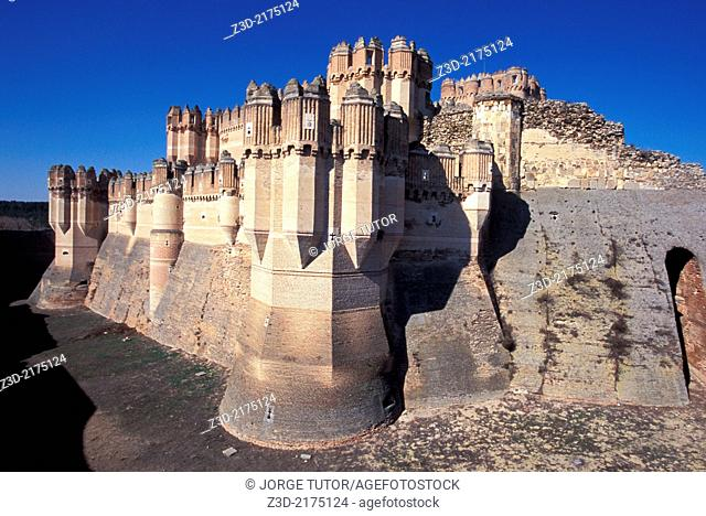Coca Castle is a fortification in the town of Coca, Segovia, Castilla-Leon, Spain